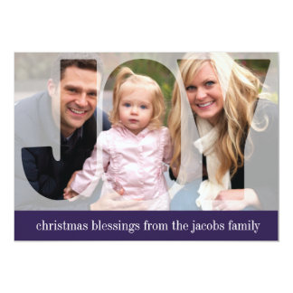 'Frosted Joy' (Plum) Holiday Photo Card