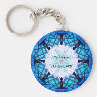 Frosted Mandala Keychain