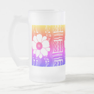 Frosted Mug Custom pink lavendar white