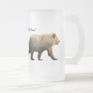 Frosted mug with bears