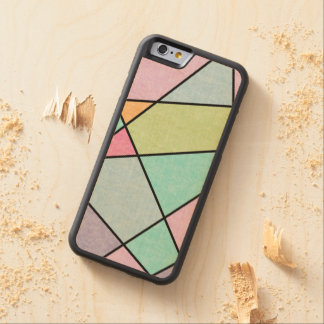 Frosted pastel abstract geometric by EDrawings38 Carved Maple iPhone 6 Bumper Case