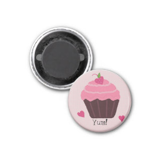 Frosted Pink Cupcake Magnet