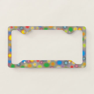 Frosted Polka Dots Licence Plate Frame