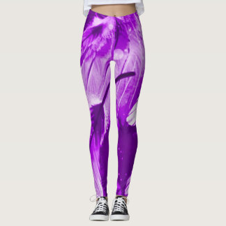 Frosted Purple Angel Dreams Airbrush Leggings