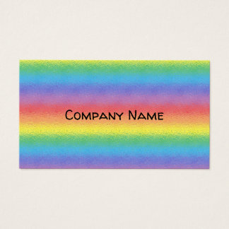 Frosted Rainbow Business Card