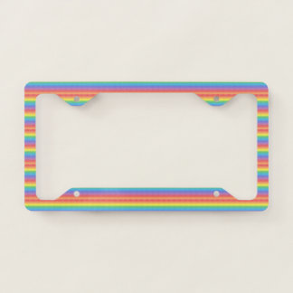 Frosted Rainbow Licence Plate Frame
