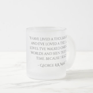 Frosted Red Reaper with  George R.R. Martin Quote Frosted Glass Coffee Mug