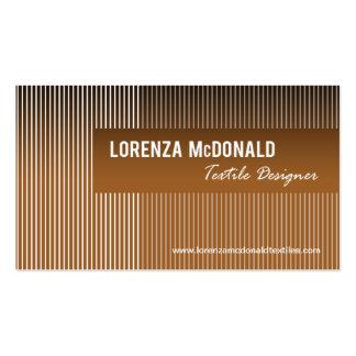 Frosted Stripes - Textile Designer Fabric Design Business Card