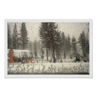Frosted Window Poster