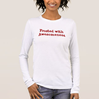 Frosted with Awesomeness Red Long Sleeve T-Shirt