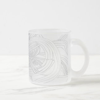 Frosty Abstract Frosted Glass Mug