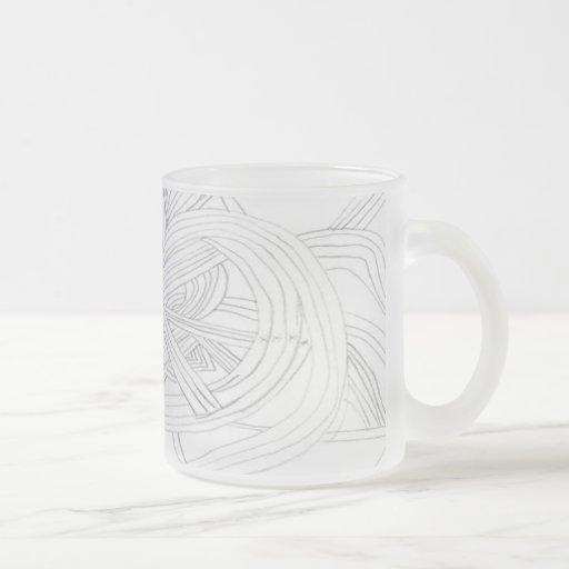 Frosty Abstract Coffee Mug