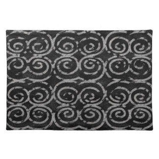 Frosty Black and White Pattern Placemat