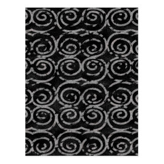 Frosty Black and White Pattern Postcard