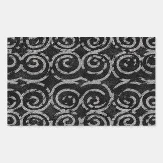 Frosty Black and White Pattern Sticker