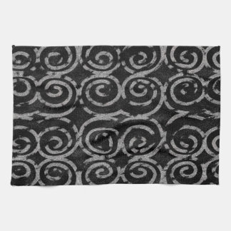 Frosty Black and White Pattern Towel