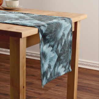 Frosty Blue Burst Short Table Runner