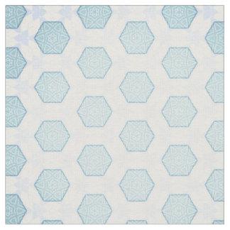 Frosty blue fabric