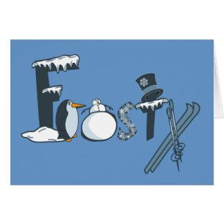 Frosty card