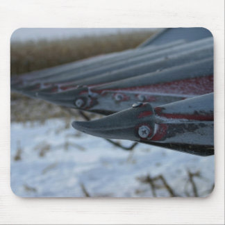 Frosty Corn Combine Tractor Head Mouse Pad
