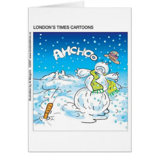 Frosty Fights The Flu Funny Christmas Gifts & Tees Greeting Card