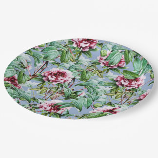 Frosty Florals 9 Inch Paper Plate