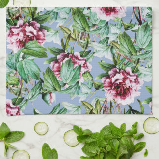 Frosty Florals Kitchen Towel