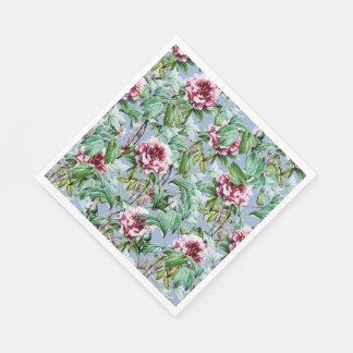 Frosty Florals Paper Napkin