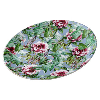 Frosty Florals Porcelain Plate