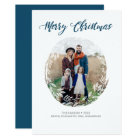 Frosty Foliage Photo Holiday Card
