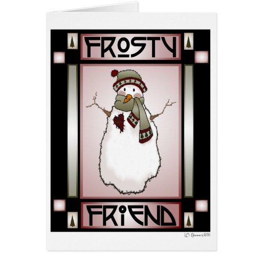 Frosty Friend Snowman #1 Card