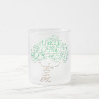 Frosty Furays Frosted Glass Coffee Mug