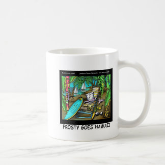 Frosty Goes Hawaii Funny Christmas Basic White Mug