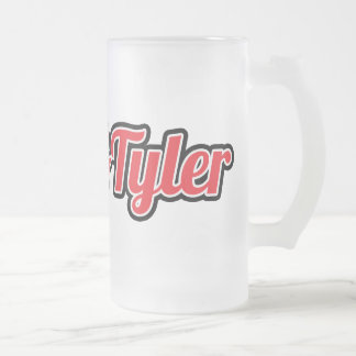 Frosty Greek&Tyler Frosted Glass Beer Mug