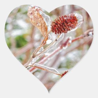 Frosty Heart Sticker