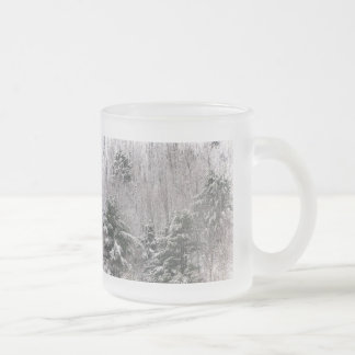 Frosty Hills Frosted Glass Coffee Mug