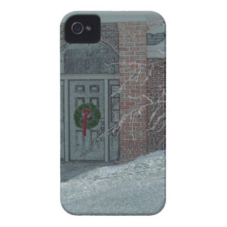 Frosty Holiday Door IPhone cover