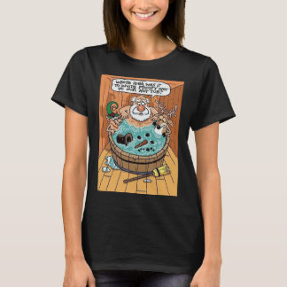 Frosty In A Hot Tub T-Shirt