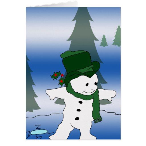 Frosty in Green Cards
