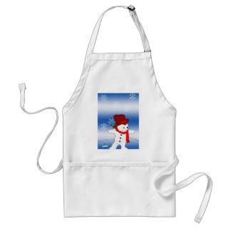 Frosty in Red Standard Apron