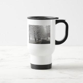Frosty journey stainless steel travel mug
