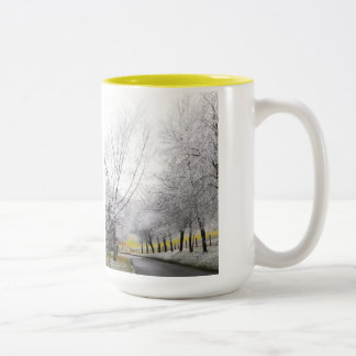 Frosty journey Two-Tone coffee mug