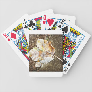 Frosty Leaf Bicycle Playing Cards