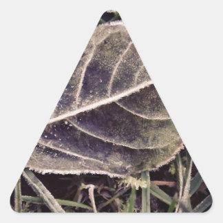 frosty leaf triangle stickers