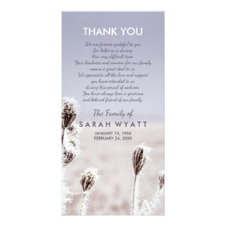 Frosty Meadow | Winter | Sympathy Thank You Photo Cards