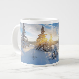 Frosty Morning In The Mountains Jumbo Mug