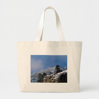 Frosty Mountain Large Tote Bag