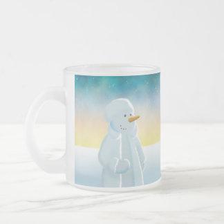 Frosty Frosted Glass Mug