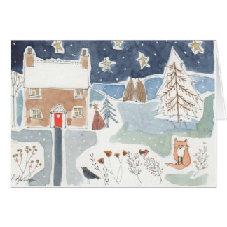 Frosty Night Card