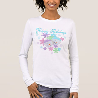 Frosty Pastel Sugar Cookies - Happy Holidays Long Sleeve T-Shirt